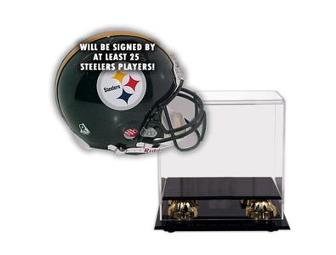 2005-2006 Pittsburgh Steelers Team Signed Official Full Size Helmet With Deluxe Display Case