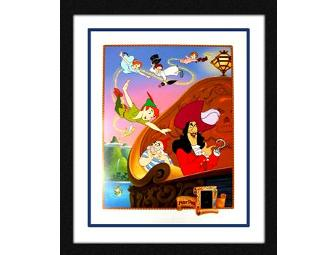 Peter Pan Limited Edition Lithograph Feat. Actual Film Strip Cel