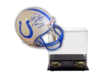 Peyton Manning Hand-Signed Official Full Size Helmet With Deluxe Display Case