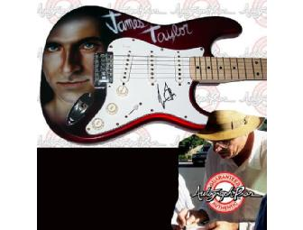 JAMES TAYLOR Autographed Custom Airbrushed Guitar