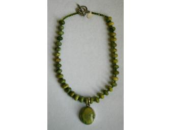 Green and Sterling Necklace