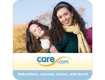 1 Year Membership to Care.com Child Care Services