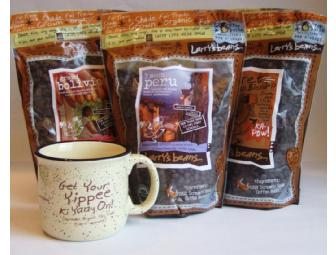 6 Pounds of Larry's Beans Coffee and Ceramic Mug