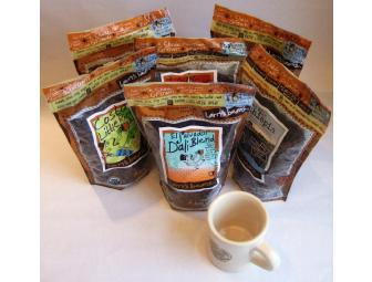 6 Pounds of Larry's Beans Coffee and Cafe Mug