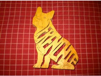 Hand-carved French Bulldog Puzzle