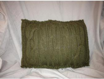 Up-cycled Eco-friendly Cable Knit Sweater Pillow