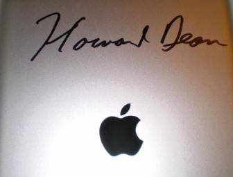 iPad Autographed by Howard Dean!