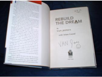 Autographed 'Rebuild the Dream by Van Jones with Photo of Van Included