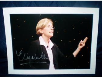 Autographed Elizabeth Warren at Netroots Nation Photo