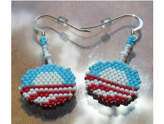 Obama Logo Seed Bead Earrings