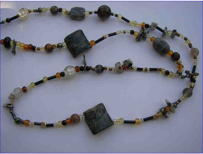 Jasper & Agate Necklace & Earrings