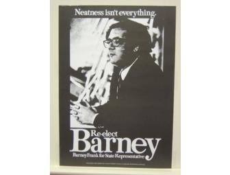 'Neatness Isn't Everything' Poster Autographed by Barney Frank