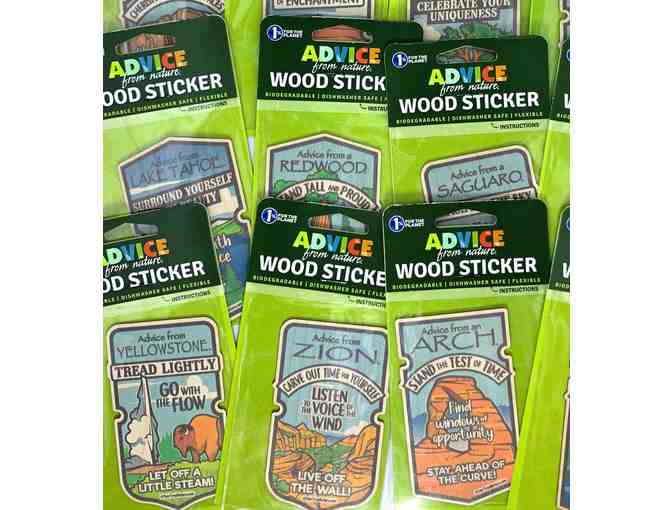 Your True Nature National Park Wood Sticker Set