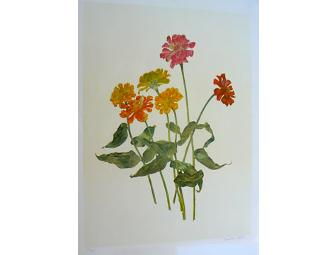 Carol Ann Bolt: Zinnias Limited-Edition Print