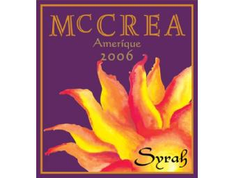 McCrea Cellars: 1.5L (Magnum) 2006 McCrea Syrah, Amerique, Yakima Valley