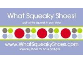 What Squeaky Shoes: Three Pairs of Girls Shoes