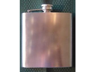 Brushed Steel Hip Flask
