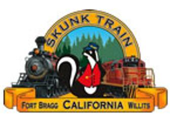 Skunk Train Trip for a Family of Four