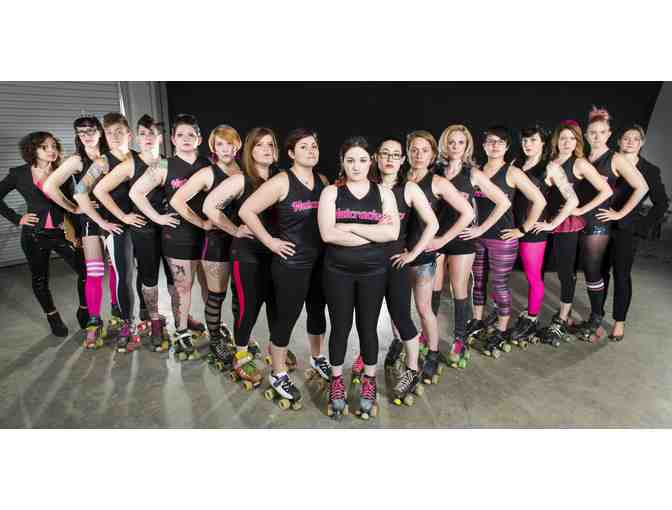 Four (4) tickets to Boston Roller Derby home game, $25 merch credit, photo op with skaters