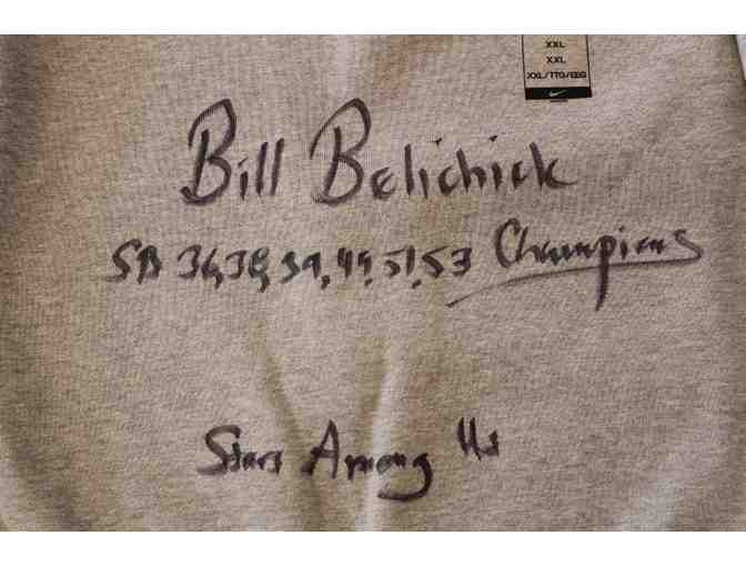 Bill Belichick Autographed Sweatshirt in Display Case