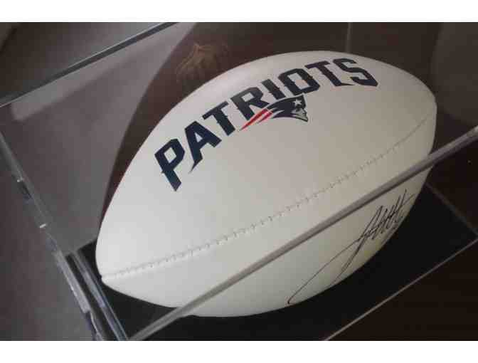 James White, New England Patriots Running Back, Autograph Football w/Display Case