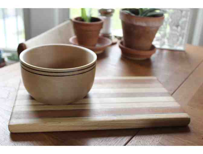 Hand Carved Maple Bowl and Cutting Board