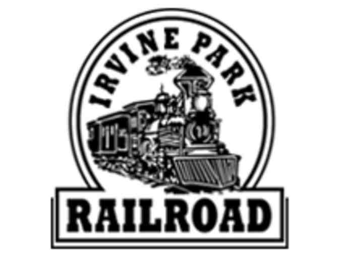 Irvine Park Railroad: 8 train tickets, 4 zoo tickets and 1 wheel fun rental.