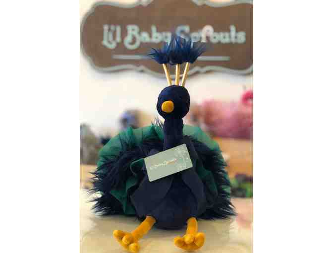 $75 to Lil' Baby Sprouts +JellyCat Peacock