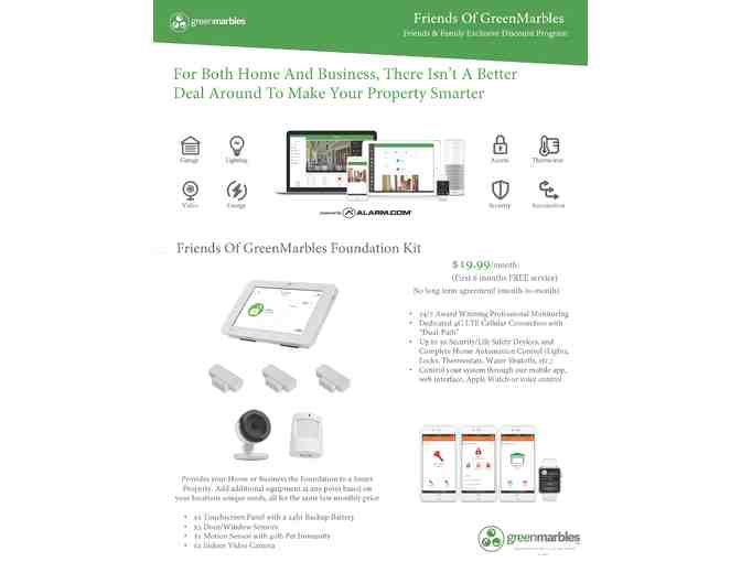 Smart Home Security System - Green Marbles