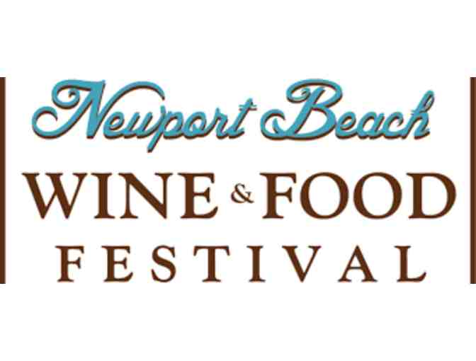 4 Tickets to Newport Beach Food and Wine Festival - Photo 1