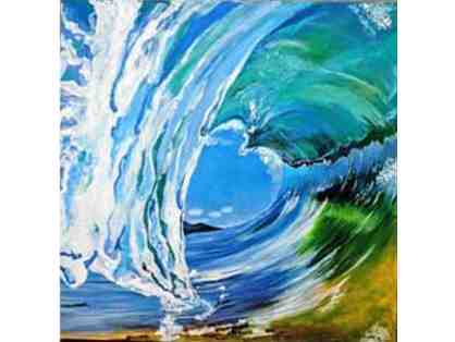 Heart Wave painting giclee print