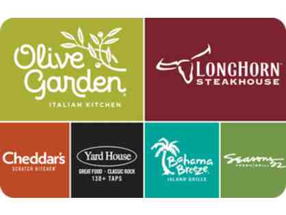 Olive Garden, Longhorn Steakhouse, Cheddars, Yard House, Bahama Breeze Gift Card - $25