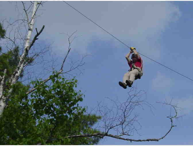 Towering Canopy Zipline Tour for Four at the End of the Gunflint Trail