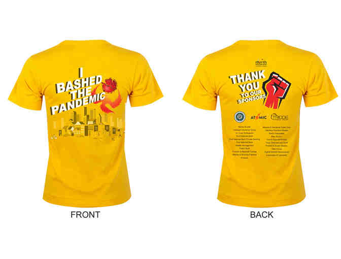 Bash the Pandemic T-Shirt: Size Medium - Photo 1