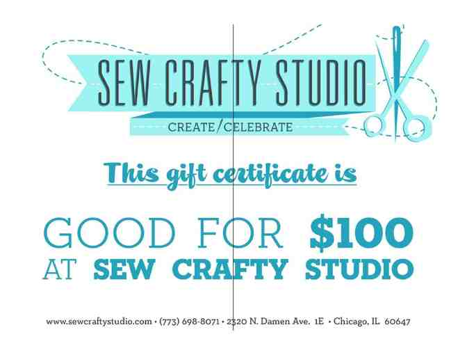 $100 Gift Certificate for Sew Crafty Studio