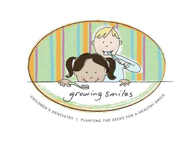 Educational & Fun Dental Experience, initial exam, cleaning + fluoride at Growing Smiles
