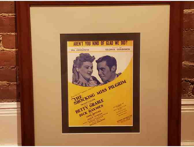 Framed Gershwin's 'Aren't You Kind Of Glad We Did?' Sheet Music Cover
