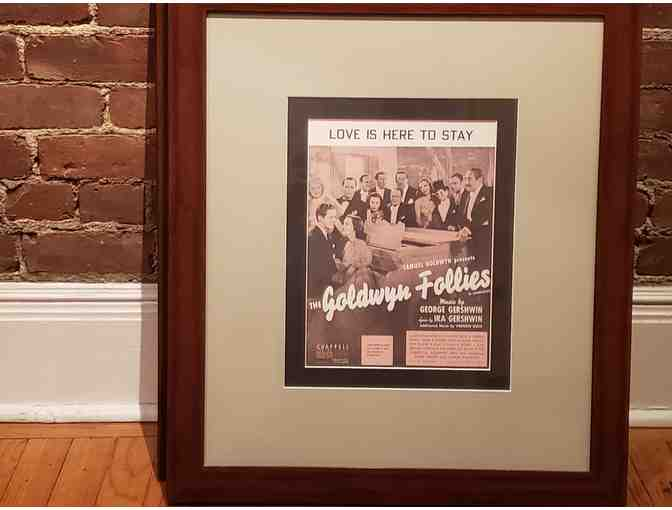 Framed Gershwin 'Oh Gee! Oh Joy!' original sheet music cover