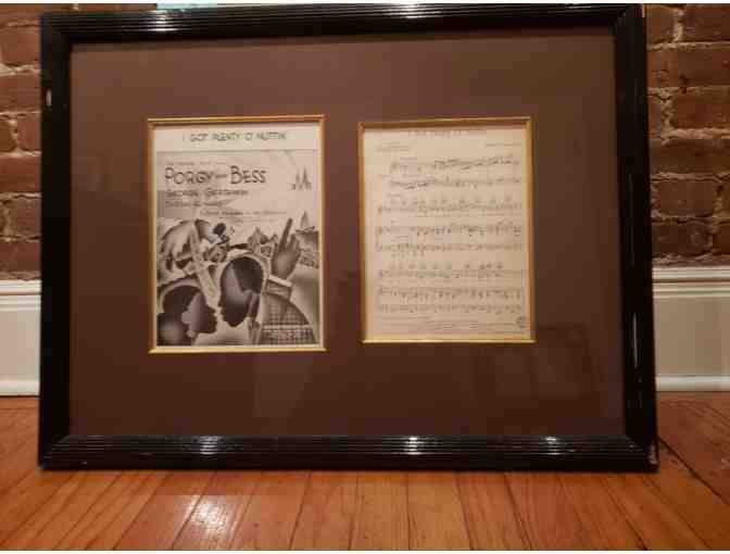 Framed 'I Got Plenty O' Nuttin'' Cover & Sheet Music Page