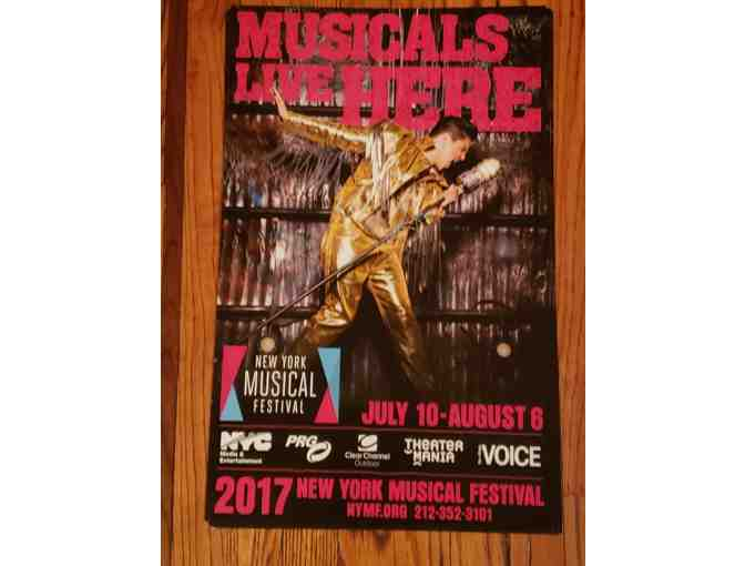 Signed 2017 New York Musical Festival (NYMF) Poster - George Salazar