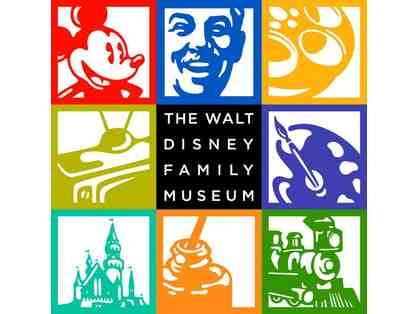 4 General Admission Tickets to The Walt Disney Family Museum