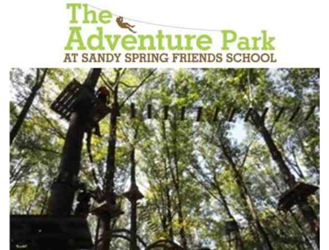2 Aerial Park Gift Passes to The Adventure Park at Sandy Spring Friends School