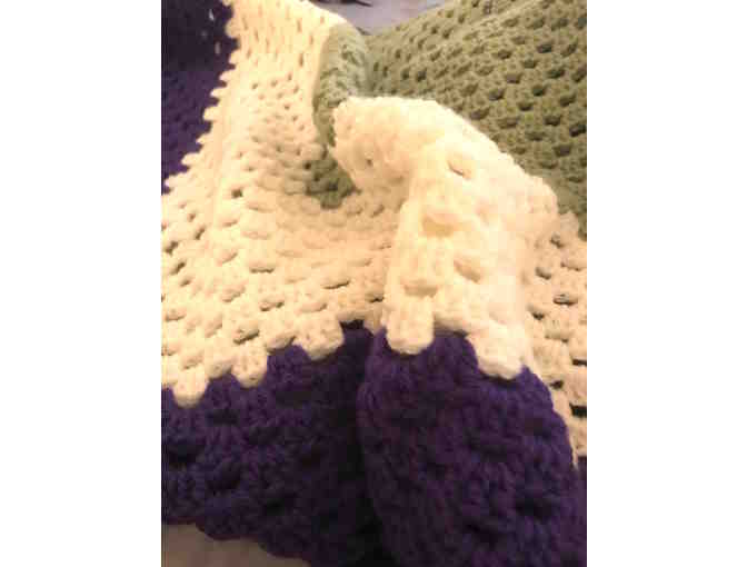 Crocheted Blanket in OFS Colors by Kelly