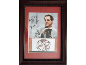 Autographed Nick Saban Photo