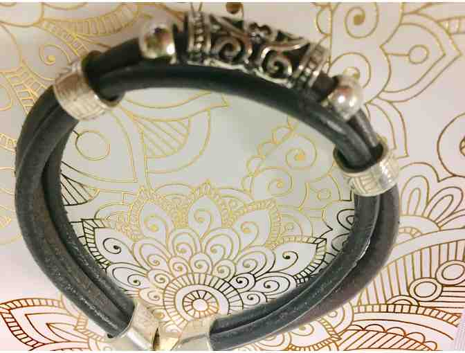African Buffalo Nickel Leather Bracelet
