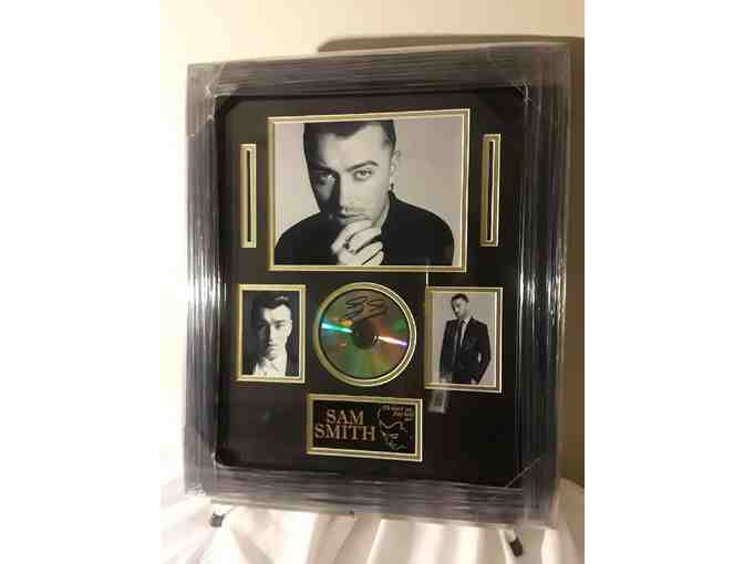Sam Smith signed framed photo/CD