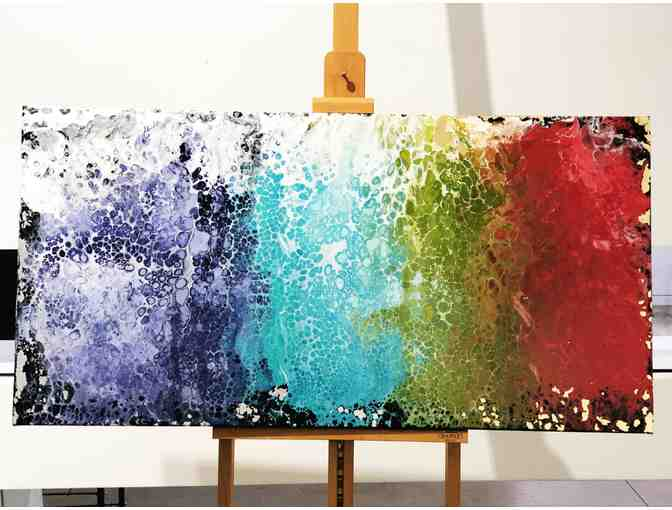 Technicolor Coat on Canvas by Jade Bleclic