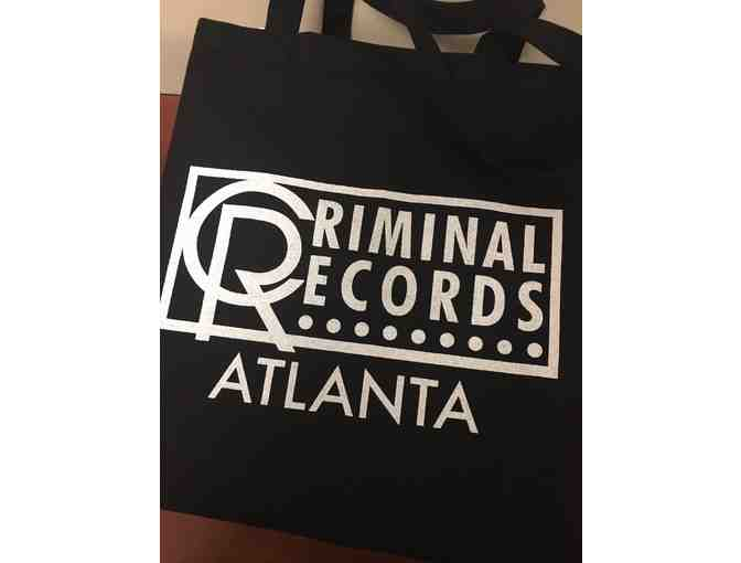 Criminal Records Bag, tickets to Peter Murphy, and Records, CDs, and more