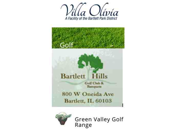 Golf Around Town at:Villa Olivia - Bartlett Hills - Green Valley Golf Range