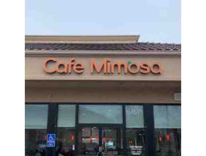 Cafe Mimosa ~ (6) Six Complementary Meal and Non-Alcoholic Beverage Gift Cards - Photo 1